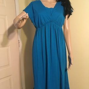 Just My Size Turquoise Kiss (blue) dress sz XL 16W